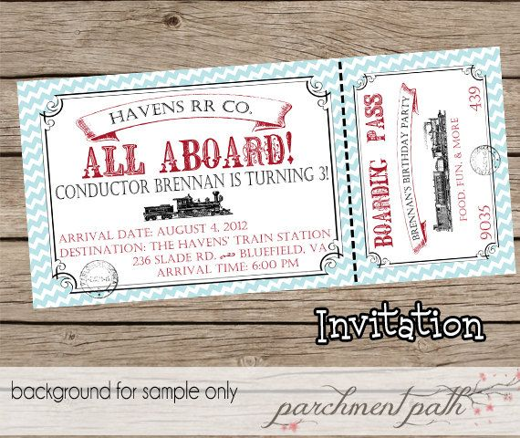 11 best Vintage Train Party images on Pinterest Birthdays, Train - fake ticket maker