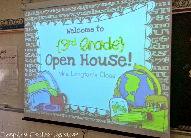 Open House presentation FREEBIE- perfect for back to school night, or meet the teacher. You edit the slides.
