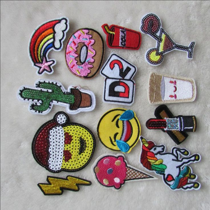 high quality fashion patches hot melt adhesive applique embroidery patch DIY clothing accessory patch C2235-C2248