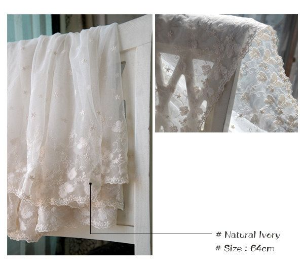 """1yds Broderie Anglaise mesh net eyelet lace trim 25.2""""(64cm) Natural IVory YH1452 laceking by Laceking on Etsy"""