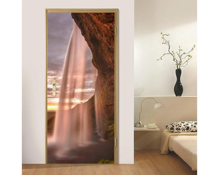 Αmazing waterfalls, αυτοκόλλητο πόρτας , δείτε το!