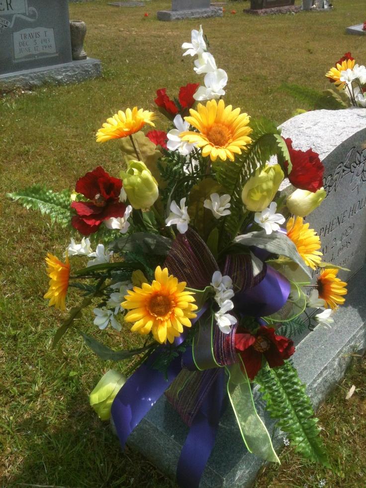 Cemetery Vase Arrangement Flowers For You Pinterest Vase