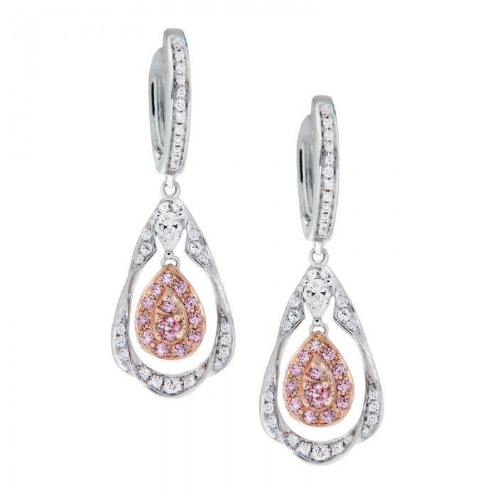 104 best Diamond Pink Earrings images on Pinterest