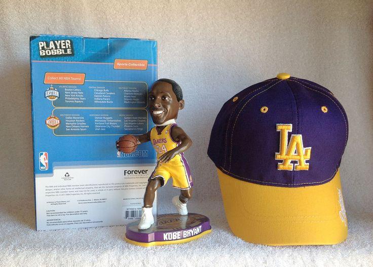 Kobe Bryant Bobblehead and Lakers Hat