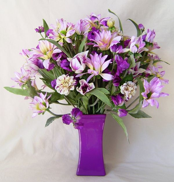 Silk Flower Arrangement: