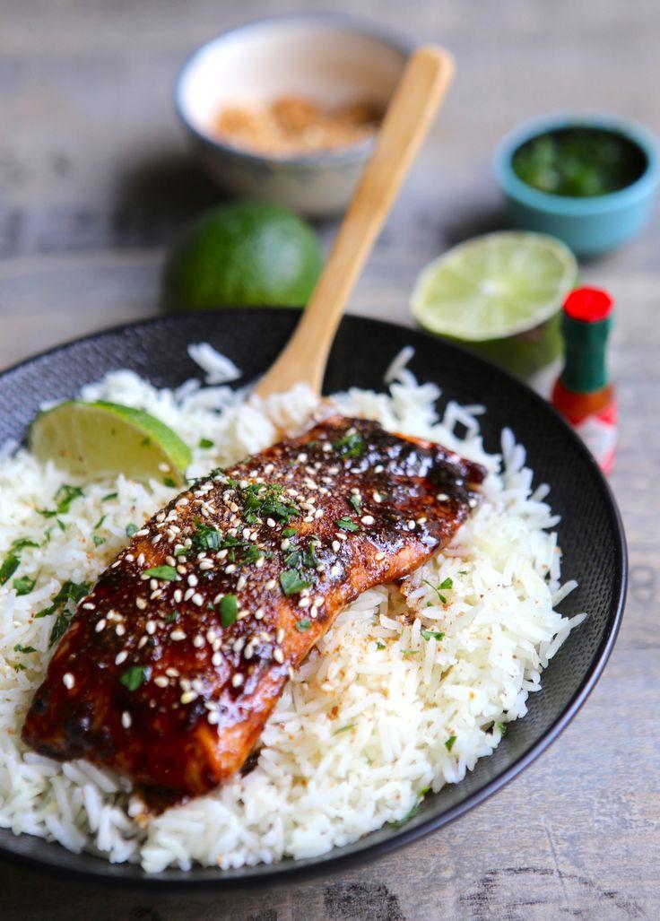 Saumon mariné aux saveurs asiatiques