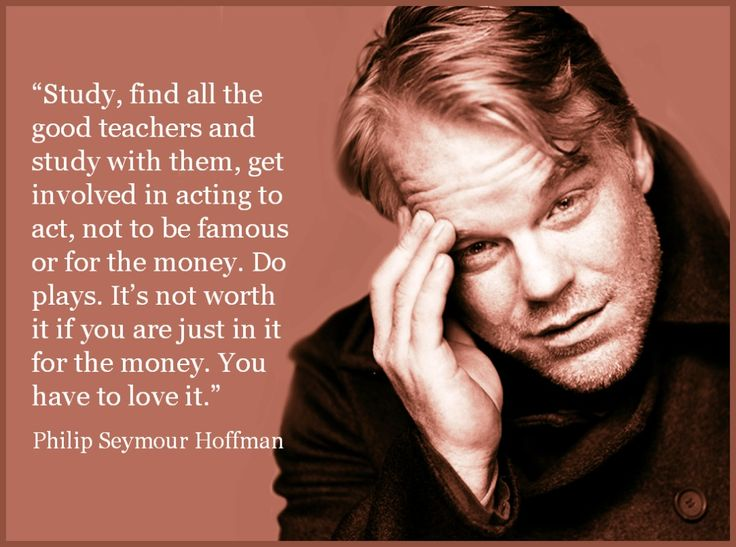Movie Actor Quote - Philip Seymour Hoffman - Film Actor Quote      #philipseymourhoffman