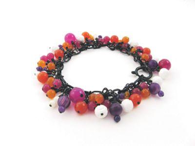 Carnival Bracelet: Bracelets Iwanttomakethi, Pearls Beads, Carnivals Bracelets, Colors Schemes, Chains Necklaces, Bracelets I Want To Make Thi, Beads Rhinestones, Michael Carnivals, Girls Colors