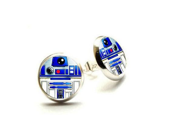 R2-D2 Ohrringe  Ohrringe Star Wars  von theBlackRabbitStudio