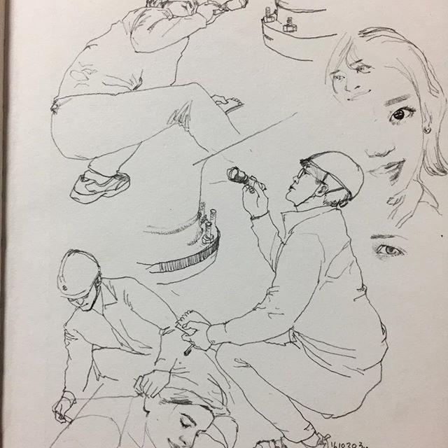 눈을 감았다 뜨면 출근날 핳 #낙서 #일 #취미 #doodle #drawing #sketch #working #inspector