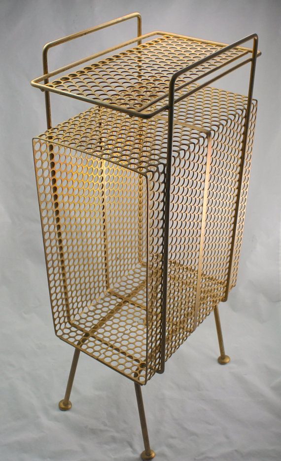 vintage wire magazine rack gold wire table vintage wire. Black Bedroom Furniture Sets. Home Design Ideas