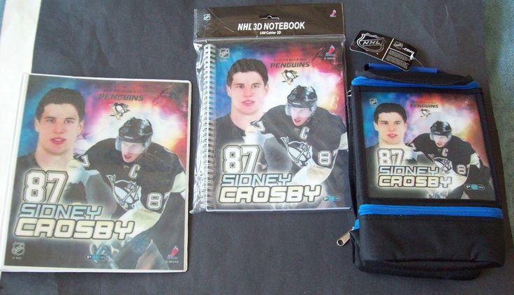 NHL Pittsburgh Penguins #87 Sidney Crosby 3D Binder, Notebook & Lunch Cooler Bag #PatherPOPZInc #PittsburghPenguins