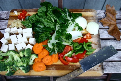 Tofu Stir Fry with Ginger and Oyster Sauce