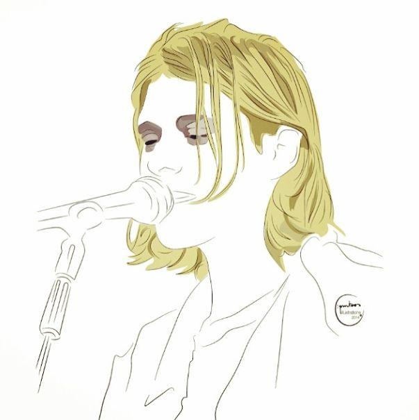 #kurtcobain #singer #birthday #kurt #nirvana #cantante #eeuusinger #compositor #comeasyouare #cobain #singerillustration #vectorillustration #grunge #fecalmatter #subpop #dgcrecords #nevermind #generacionx #inutero #courtneylove