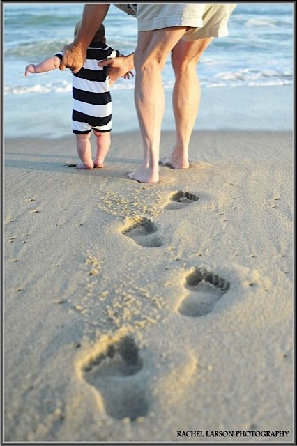 Children's Portraits / Baby / Beach / Footprints / Grandmother / Nantucket / Rachel Larson Photography