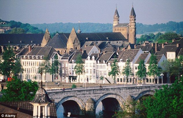 The walking bridge, Maastricht, the Netherlands