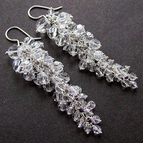 Anielica kolczyki - Biżuteria ślubna - Biżuteria srebrna
