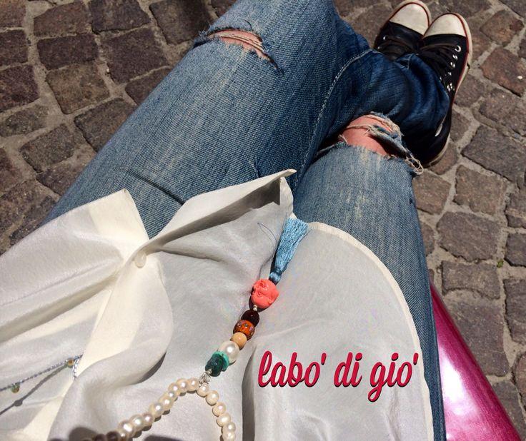labo' di gio' design - Pearls and Buddha nackelaces