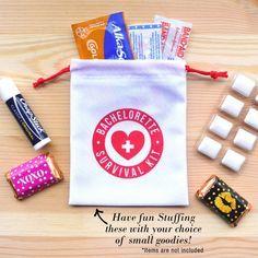 #Bachelorette Party Favor, #SurvivalKit, Bachelorette Survival Kit, Bachelorette Favor, Team Bride,  4 x 5 favor bags