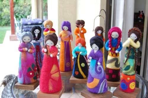 muñecas de fieltro agujado - Buscar con Google