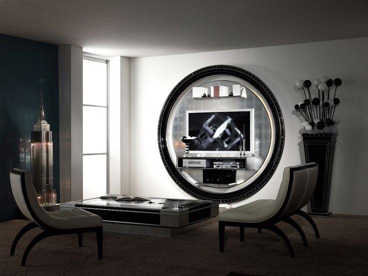 Tv Stand Tv Rack Tv Wallunit In Round Shape Vase Coffe