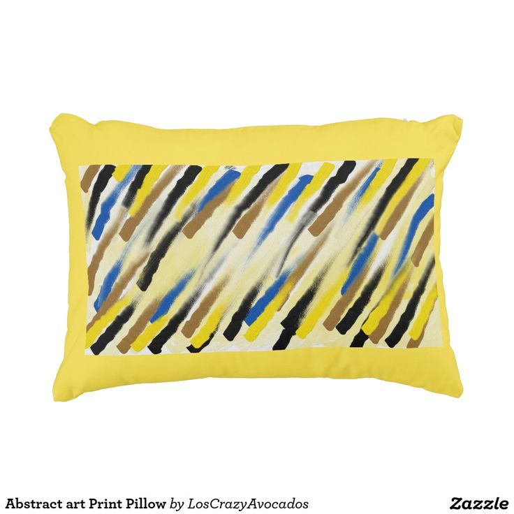 Abstract art Print Pillow
