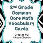 This set includes 78 cards with common core vocabulary words for the 2nd grade math standards. They can be easily used for a math word wall. Put th...