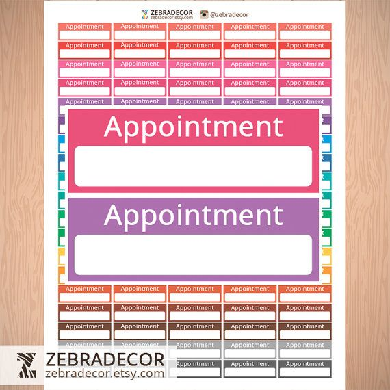 Printable Appointment Stickers  Printable от ZebraDecor на Etsy