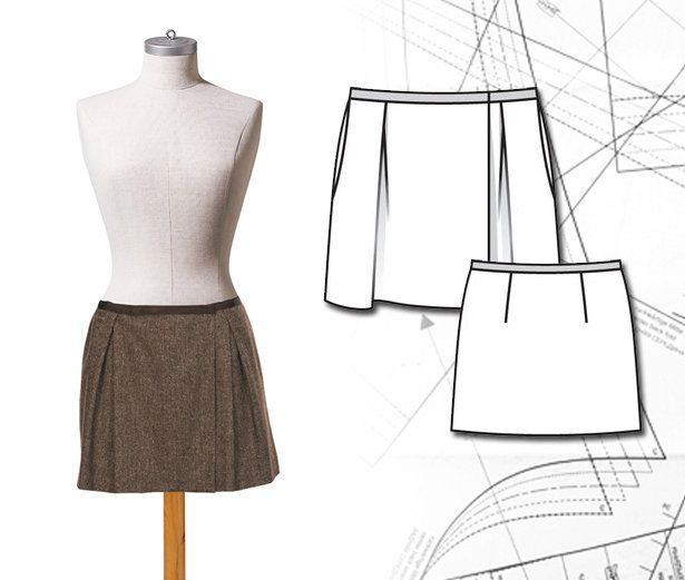 Read the article 'Sewing Lesson: Pleated Mini Skirt 118A 08/2011' in the BurdaStyle blog 'Daily Thread'.