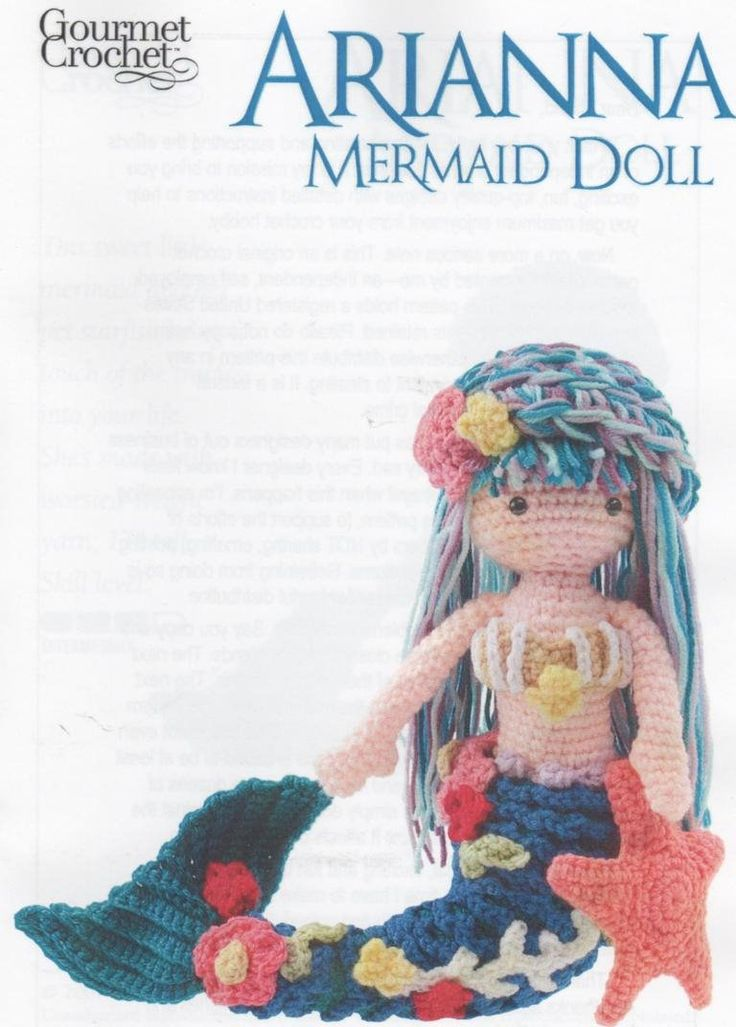 73 best Mermaids images on Pinterest | Crochet dolls, Amigurumi doll ...