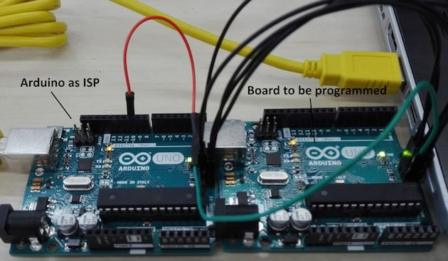 How to burn the #Arduino bootloader using an Arduino as ISP programmer http://www.arduino.org/learning/tutorials/hackings/burn-the-bootloader-using-an-arduino-board-as-isp-programmer
