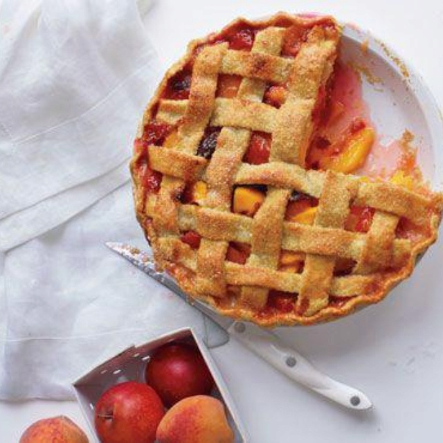 Almond, Plum, & Peach Pie