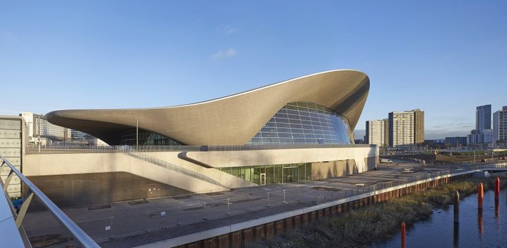 Tracing the Legacy of Zaha Hadid, Architecture's Esteemed Anomaly | The London Aquatics Center, seen here, is another swooping shape by Hadid. It evokes the shape of a stingray. | Credit: Hufton Crow/Zaha Hadid Architects | From Wired.com
