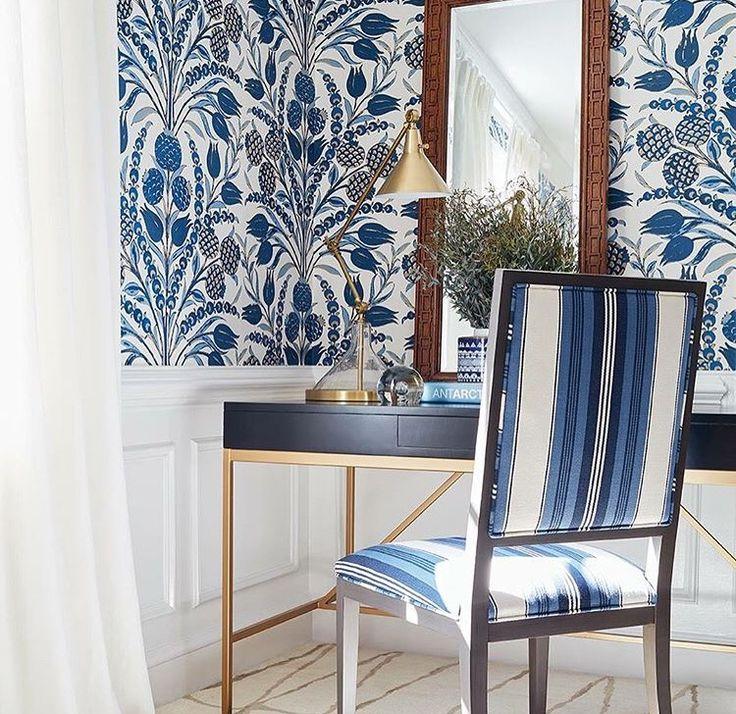 Bold Floral Wallpaper Bathroom