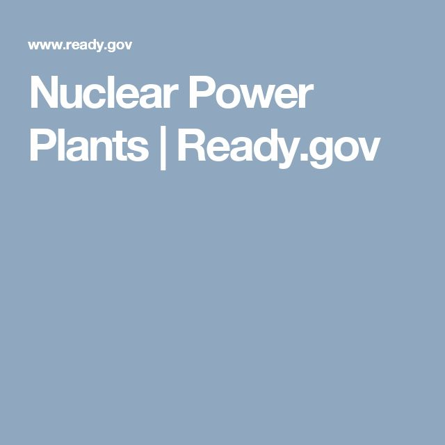 Nuclear Power Plants | Ready.gov