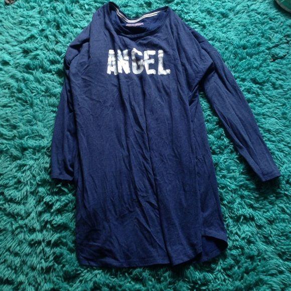 Victoria's Secret pyjama dress Good condition, navy dress with Angel written on it Victoria's Secret Intimates & Sleepwear Pajamas