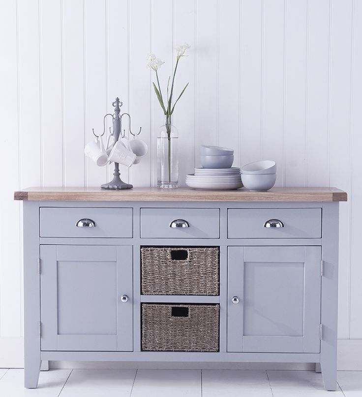 Contemporary Oak White Large Sideboard | #onitfurniture |