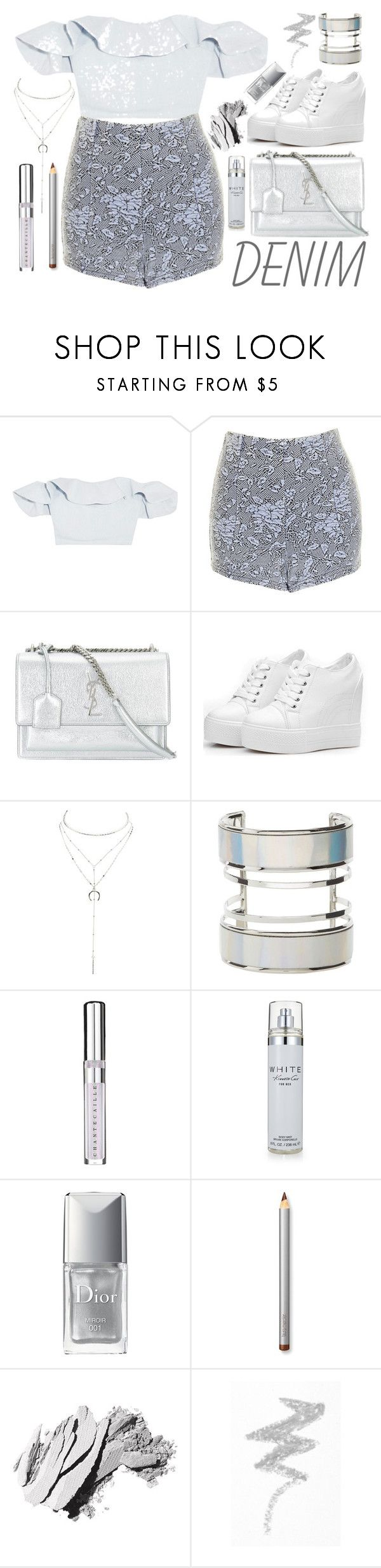"""Fancy"" by galaxy-moon-stars ❤ liked on Polyvore featuring Apiece Apart, Topshop, Yves Saint Laurent, Charlotte Russe, Chantecaille, Kenneth Cole, Christian Dior, Laura Mercier, Bobbi Brown Cosmetics and NYX"