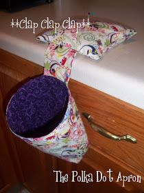 FREE pattern.  The Polka Dot Apron: Thread Catcher Tutorial. Turns out awesome!!