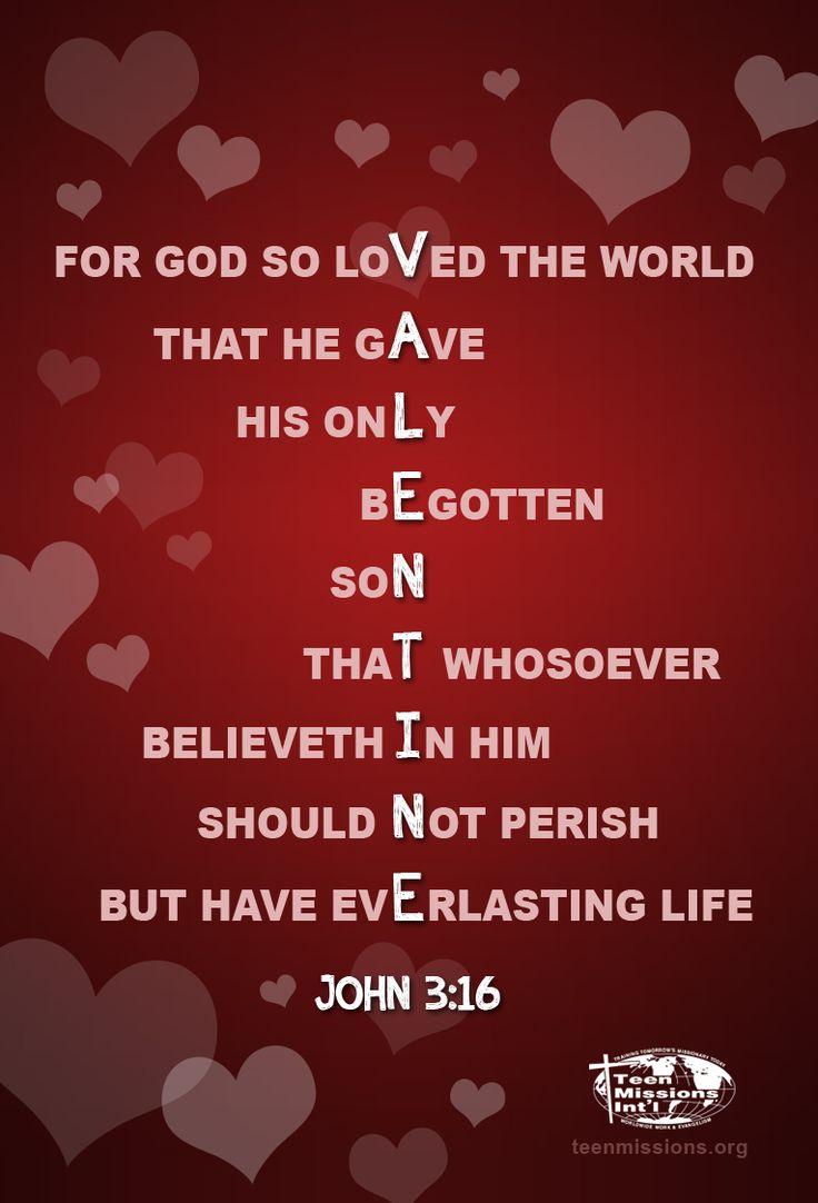 Valentineu0027s Day U2013 John 3:16 U2013 LOVE