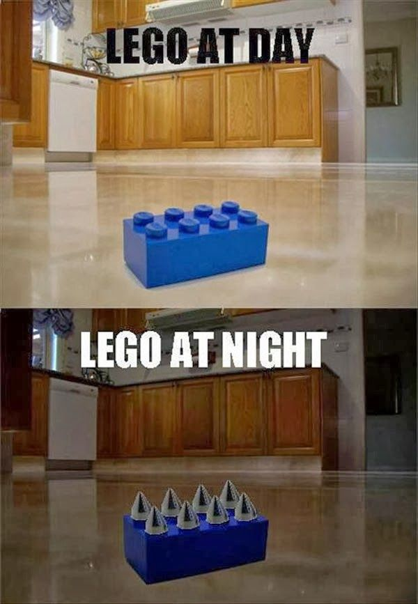 "That's so true! I was at my neighbors one day, and they have tow little kids so there where legos everywhere and I stepped on one. It was everything I could do to not scream ""Crap!"""