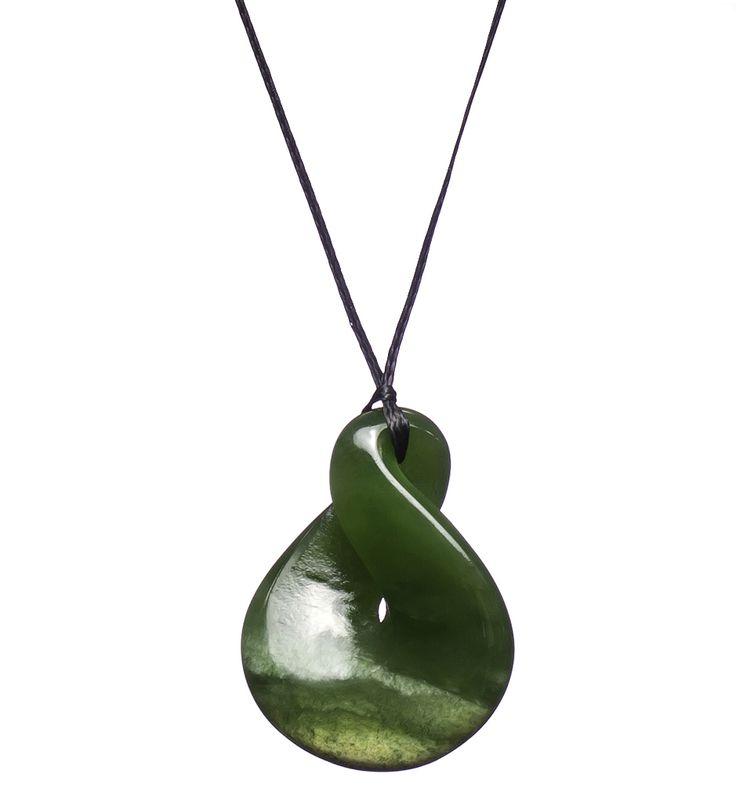 New Zealand Pounamu Pikoura/Twist Necklace : Mountain Jade ...