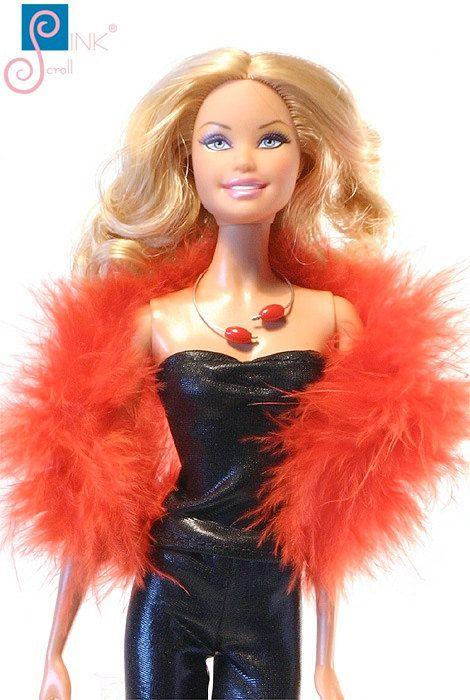 Barbie clothes boa:  Bundek by Pinkscroll on Etsy