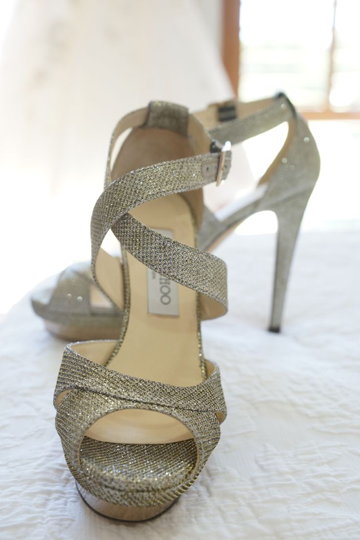 Bridal shoes by Jimmy Choo :)