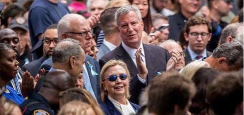 .@HillaryClinton  sufre mareo en conmemoración del 9/11...
