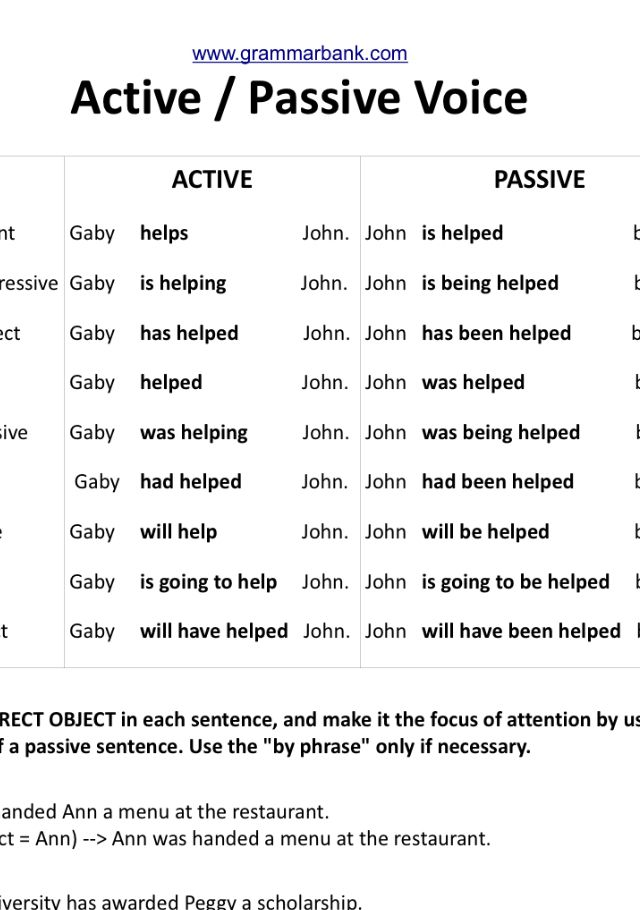 Pin By Marina On Aprender Ingles Active And Passive Voice Words Word Search Puzzle