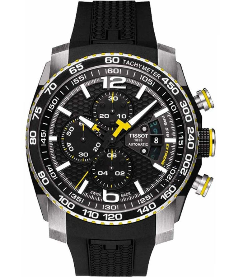TISSOT SPORT PRS516 Automatic Chrono Black Rubber Strap Η τιμή μας: 1.020€ http://www.oroloi.gr/product_info.php?products_id=37445
