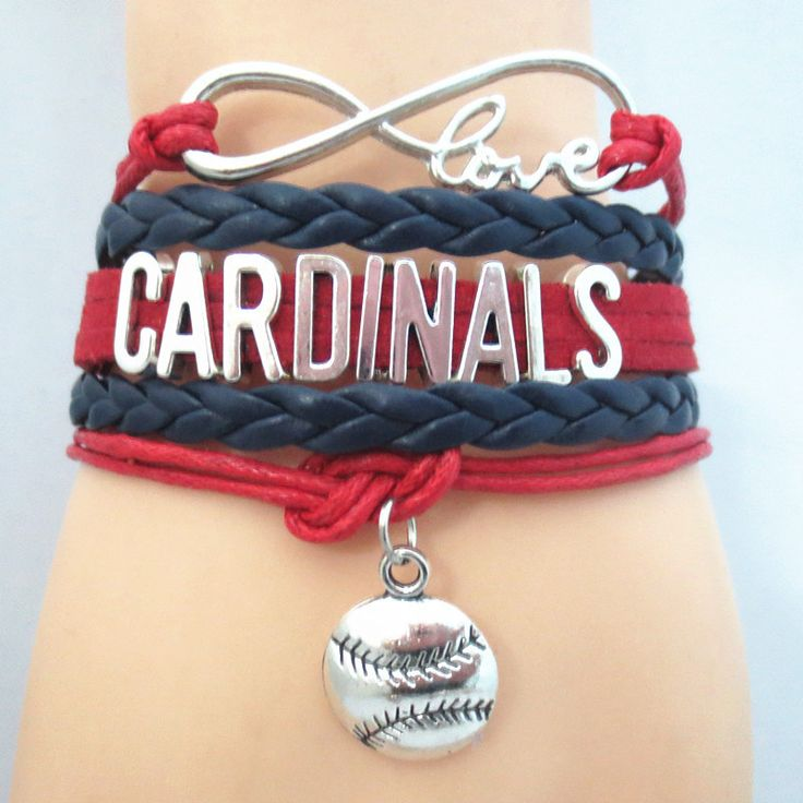 Infinity Love St. Louis Cardinals Baseball - Show off your teams colors! Cutest Love St. Louis Cardinals Bracelet on the Planet! Don't miss our Special Sales Event. Many teams available. www.DilyDalee.co