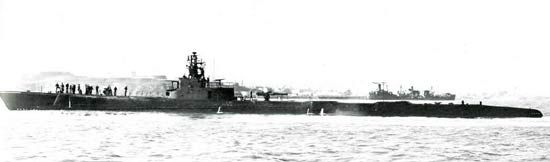 USS Sargo (SS-188) US Navy submarine lead ship of her class, during late WWII. (wikipedia.image) 5.17