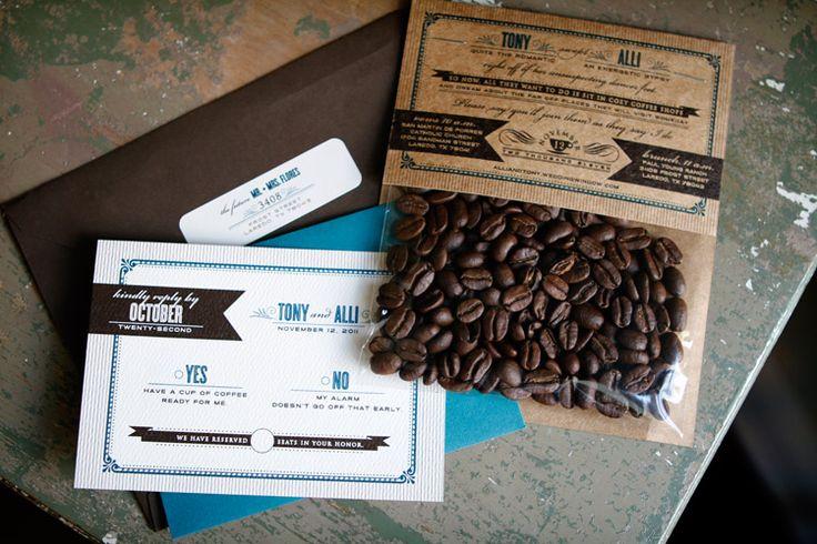 Bohemian Coffee Wedding Invitation